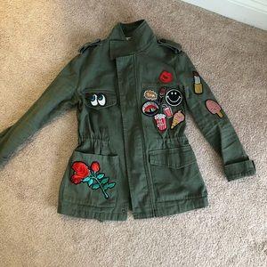 Jackets & Blazers - Patch work jacket size small. Like new